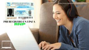 Preregistro RNP en Linea Para Nueva Tarjeta de Identidad.
