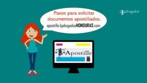 Pasos para solicitar documentos apostillados Honduras