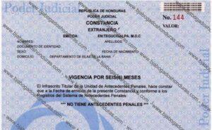 Solicitar Constancia de Antecedentes Penales en Honduras