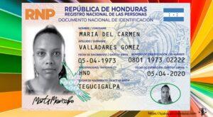 Dónde reclamar nueva tarjeta de identidad o DNI Honduras